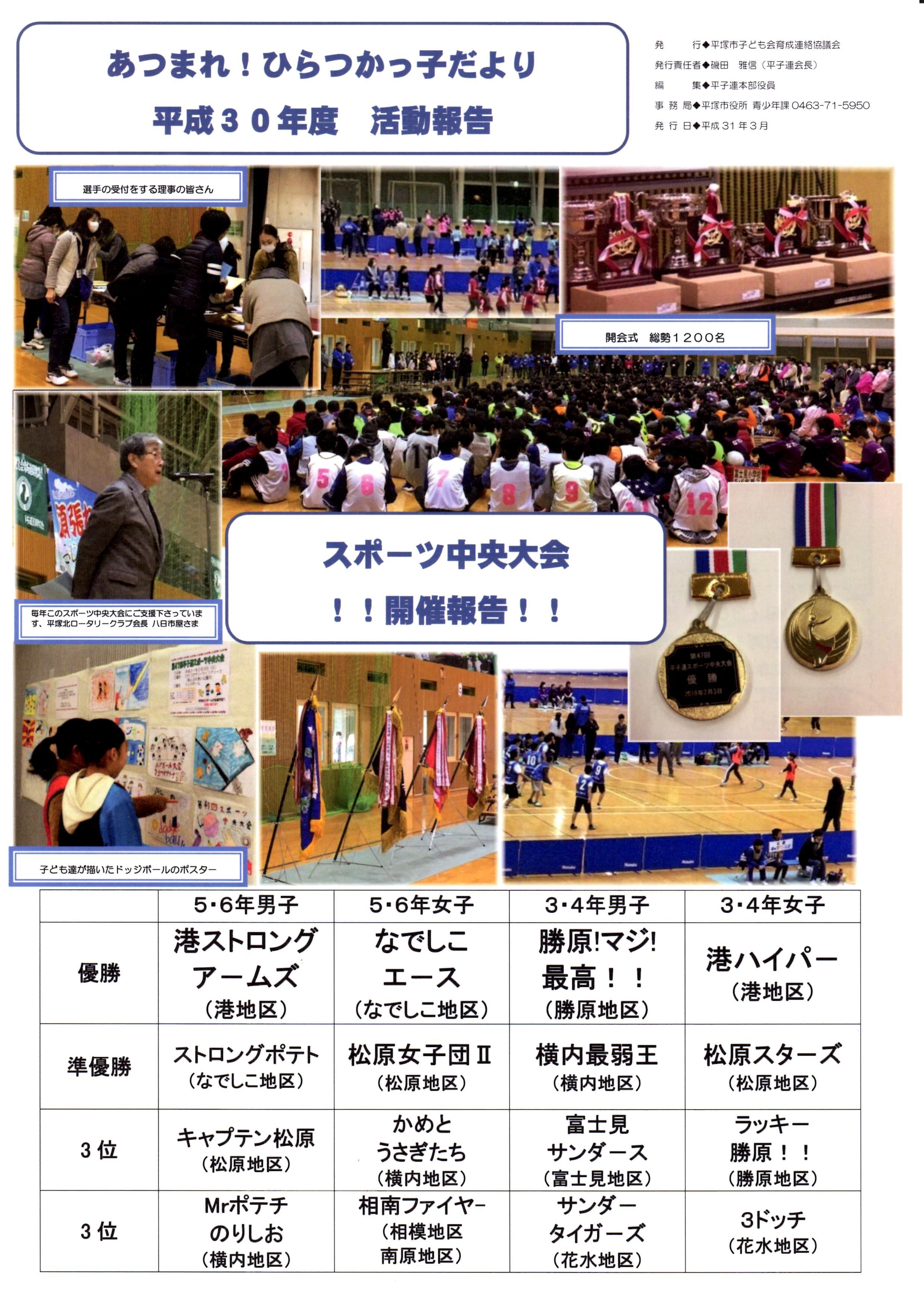 平塚市子連広報紙