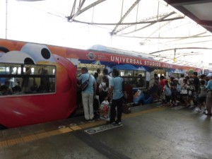 ユニバーサル駅から大阪駅へ移動