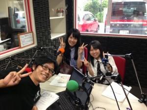 広島県廿日市市子連から参加した2人。広島に帰ってから地元FM局に生放送出演!